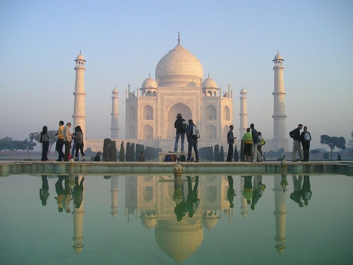 Taj Mahal kevés turista