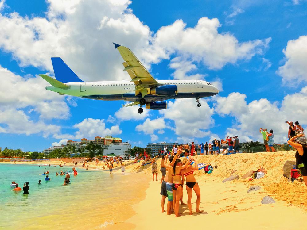 St. Maarten sziget reptér