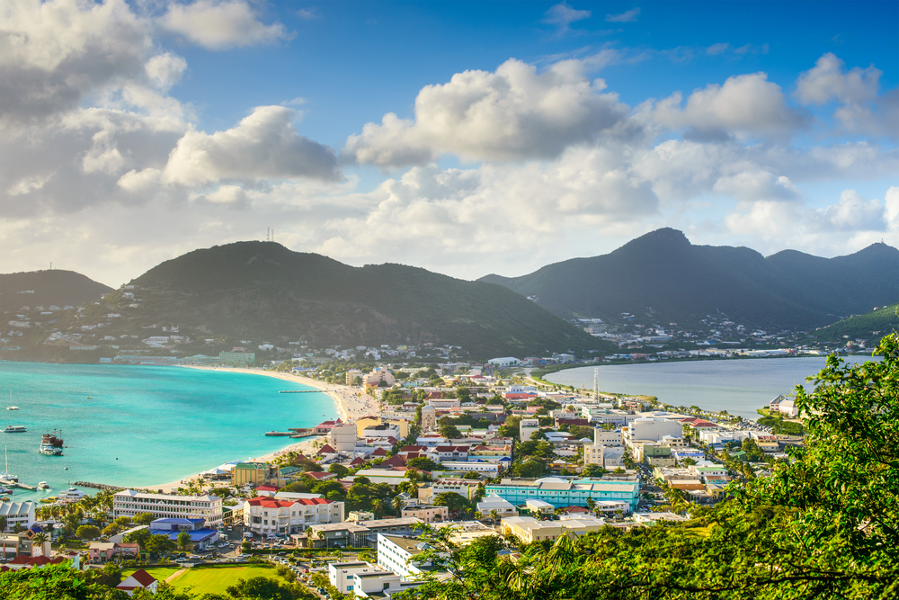 St. Maarten sziget kilátók