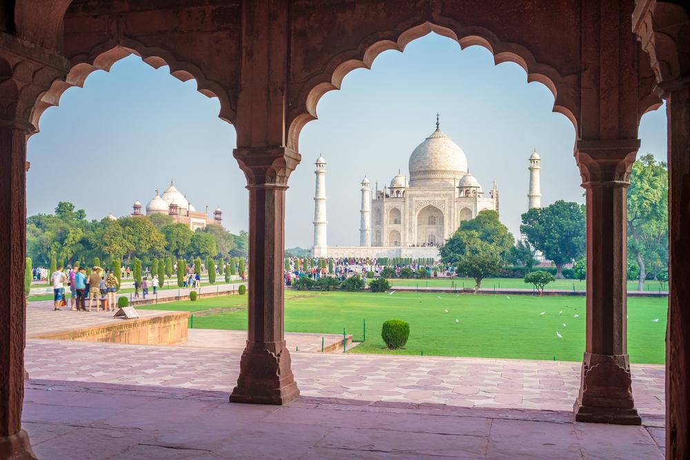 Taj Mahal a távolból